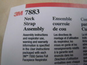 New 10 Pack 3m 7883 Neck Strap Assembly 7000 Series Respiratory Replacement