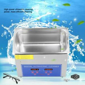 Stainless Steel 3l Ultrasonic Cleaner Ultra Sonic Heated Timer Heater Cleaning