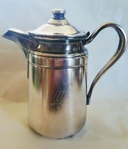Antique Reed And Barton Silver Soldered Pitcher 4004 United Airlines Coffee