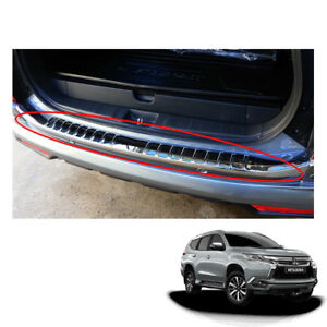 Mitsubishi Pajero Montero Sport Rear Tailgate Bumper Step Cover Chrome Fit 16 17