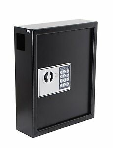 Cabinet Secure 40 Keys Storage Box Digital Lock Steel Safe Wall Hanging Hooks