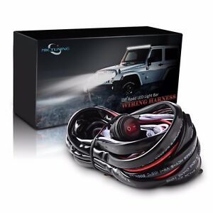 Mictuning Led Light Bar Wiring Harness Fuse 40a Relay On Off Waterproof Switch