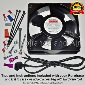 Hatco Food Warmer 02 12 006 00 Axial Fan 230v wire plug hardware Ships Today