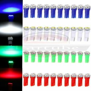 40x T5 3smd 3014 74 85 286 Led Speedometer Cluster Dash Light Bulbs For Toyota