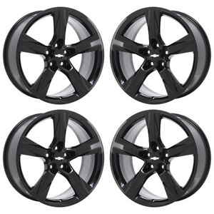 20 Chevrolet Camaro Ss Black Wheels Rims Factory Oem Set 4 5760 5764 Exchange