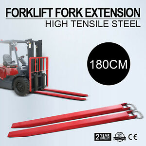 74 Forklift Pallet Fork Extensions Pair Heavy Duty Lifts Trucks Slide Clamp