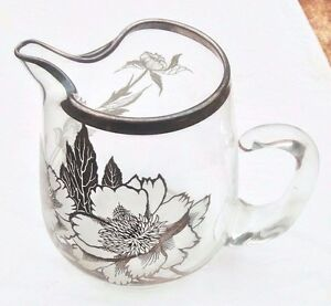 Sterling Silver Overlay Large Water Lemonade Pitcher