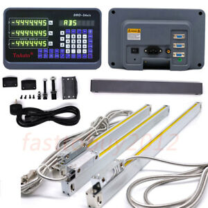 3 Axis Dro Digital Readout For Milling Lathe Machine 3pcs Linear Glass Scales