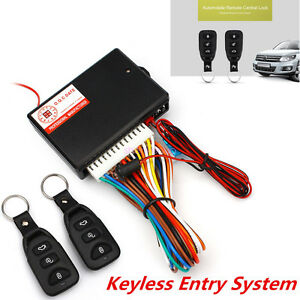 Universal Car Remote Central Kit Door Lock Locking Alarm Keyless Entry System