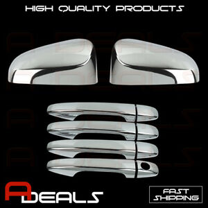 Fit Toyota Venza 2013 Chrome Top Mirror Cover 4 Doors Handles Covers