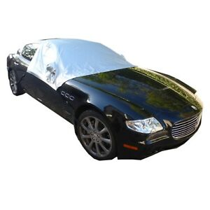 Car Snow And Windshield Sun Shade Half Top Cover Fits Full Large Size Car
