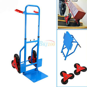 Heavy Duty 6 Wheels Stair Climber Climbing Sack Truck Trolley Folding Cart Dolly