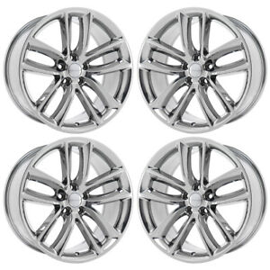 20 Charger Challenger Rt Scatpack Pvd Chrome Wheels Factory Oem Set 4 2526