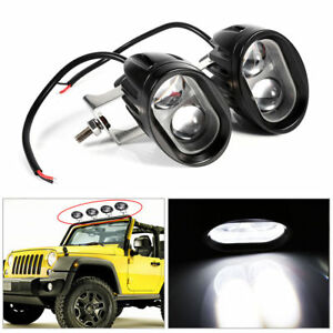 Pair Of 20w Round Spot Work Light Driving Fog Led Lamp Ute Atv Suv 4wd Offroad S