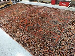 10 0 X17 5 Handmade Antique Persian Sarouk Rug