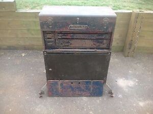 Rare Antique Snap on K 6 Bottom Tool Box With K 5 Top Box Rolling Chest