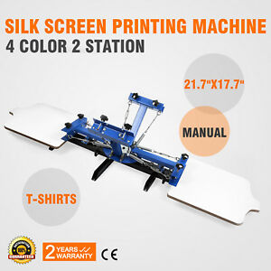 4 Color 2 Station Silk Screen Printing Machine Wood Carousel Printer Wholesale