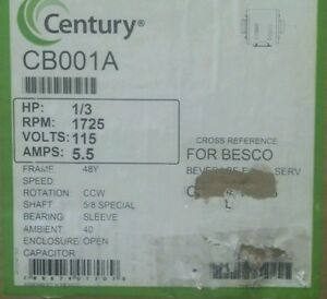 Century Ao Smith Carbonator recirculating Pump Motor S48f07a01