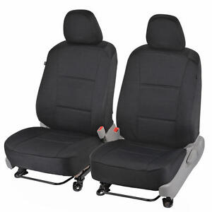 Custom Fit Car Seat Covers For 2012 Toyota Camry Sedan Black Polyester Cloth