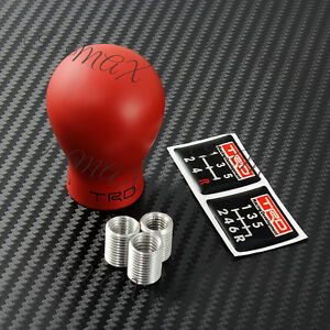 Trd Duracon 5 6 Speed M T Racing Shift Knob Red For Toyota Frs Ae86 Supra Mr2 Tc