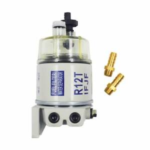 New With Fittings Marine Spin On Fuel Filter Water Separator R12t For Racor