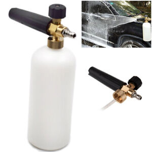 1l Strong Clean Foam Lance Cannon 1 4 Quick Connect Adapter Pressure Washer Gun
