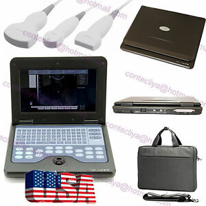 Ce Portable Laptop Machine Digital Ultrasound Scanner Cms600p2 3 Probe usa Fedex