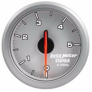 Fits Ford Dodge Chevy Auto Meter Ul Silver Airdrive Series Tachometer
