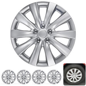 4 Pc Set 16 Hub Caps Silver Fits 2011 2013 Toyota Corolla Replica Wheel Cover