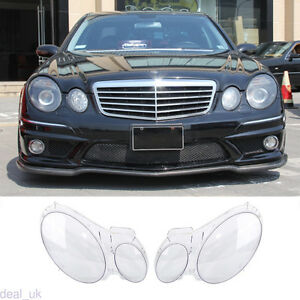 For Benz W211 E350 300 200 2002 2008 Headlight Lens Replacement Cover Left Right