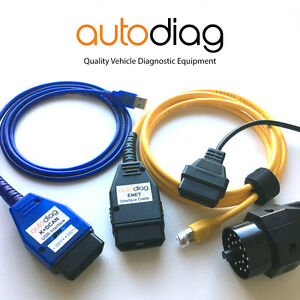Complete Bmw Diagnostic Coding Package K Dcan Enet 20pin Adapter Tools
