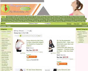 Established Pregnancy maternity shop Amazon Affiliates Turnkey Website