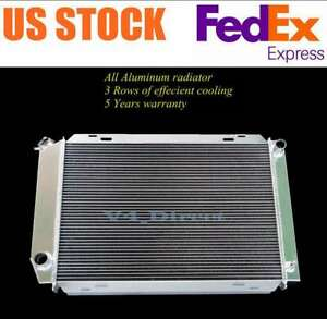3 Row Aluminum Radiator Fit 1979 93 Ford Mustang V8 Mtonly 24 W X 17 H Core