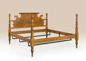 Cannonball Bed Frame King Size Handcrafted Bedroom Furniture Long Island