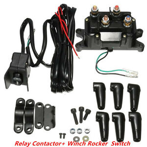 12v Atv Utv Solenoid Relay Contactor Winch Rocker Thumb Switch Wiring Combo