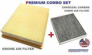 Combo Carbonized Cabin Filter Air Filter Set For Ford Edge 2015 2019