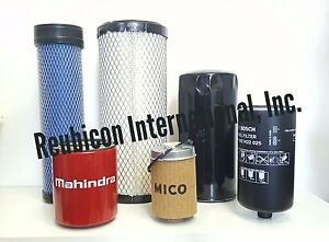 Mahindra Tractor Economy Pack Of 6 Filters 0455 0456 1778 8618 7310 3427