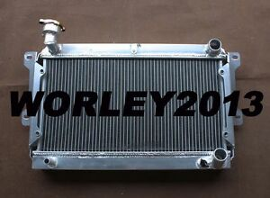 2 Row Aluminum Radiator For Mazda R100 Familia Rotary 1000 1200 1300 68 73 Mt