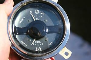 49 50 Plymouth Oil Pressure Gas Fuel Gauge Cluster Vintage