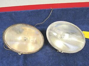 Vintage S M 155 Driving Headlights 8 3 4 6 1 2 Oval Style 317