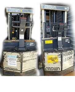 Crown Walk Behind Electric Forklift 30wtl 106 40wtl 130 Charger Included