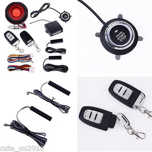 Car Alarm System Pke passive Keyless Entry Remote Start Push Button Hopping Code