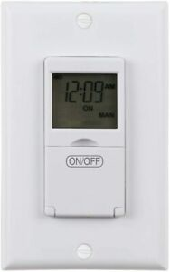 Refurbished Weekly Programmable In wall Timer Switch Digital For Fans Lights
