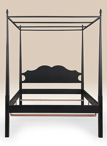 Queen Size Canopy Bed Country Design