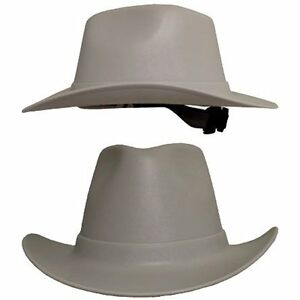 Hat Cowboy Style Hard Vulcan Ratchet Suspension Uv Protection Safety Gray New