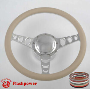 15 5 Billet Steering Wheels W Tan Half Wwrap Ford Gm Corvair Impala Chevy Ii