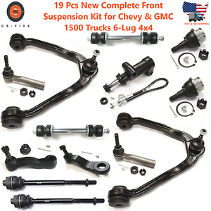 New 19pc Complete Front Suspension Kit For Chevy Gmc 1500 Trucks 6 lug 4x4