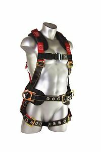 Guardian Fall Protection Seraph Construction Harness Padded Back side D rings