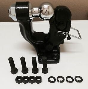 10000lb Pintle Hook 2 5 16 Ball Combo Trailer Boat Hitch Towing Heavy Duty