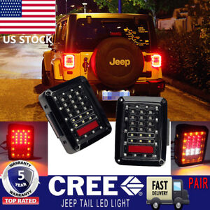 2x Led Rear Tail Light Brake Turn Signal Reverse For 07 16 Jeep Wrangler Jk Bxe